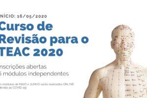Inscrições abertas para Curso de Revisão TEAC 2020